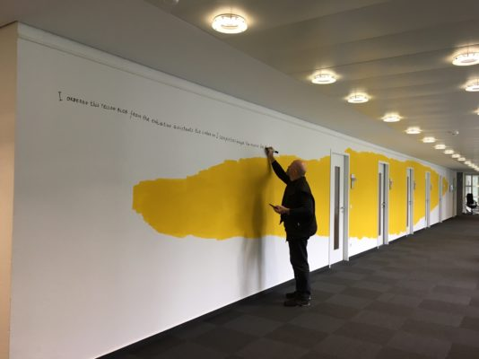 The Yellow Blob Story, Nedko Solakov, Headquarter Bonn 2017