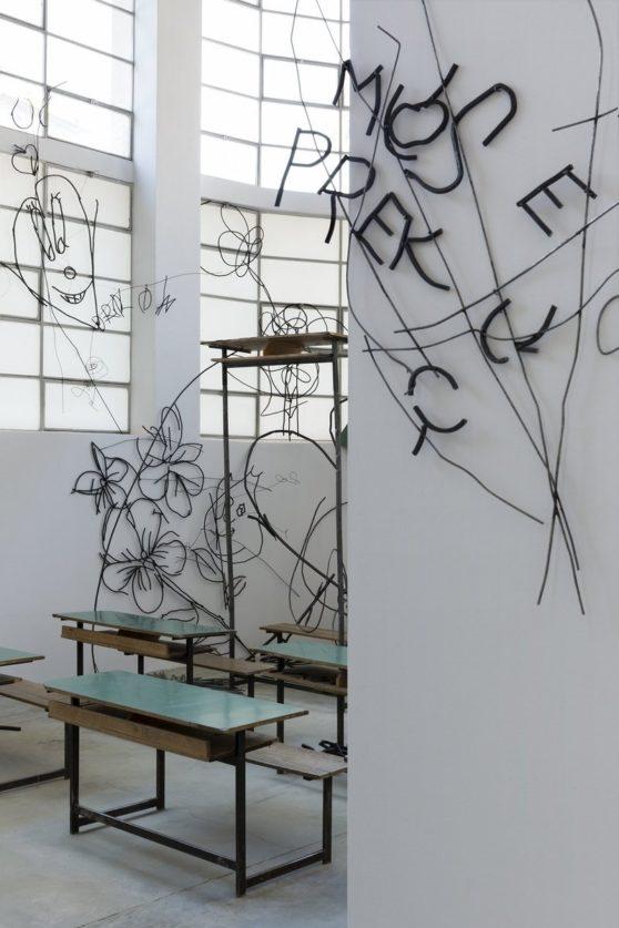 Petrit Halilaj, Abetare, Exhibition at the Merz Foundation, Photo Andrea Guermani
