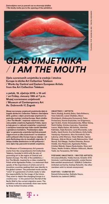 I Am The Mouth, Zagreb, Einladung