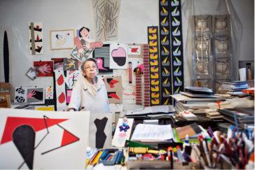 Geta Bratescu Studio, Febr. 2015, Neuer Berliner Kunstverein, Photo Stefan Sava