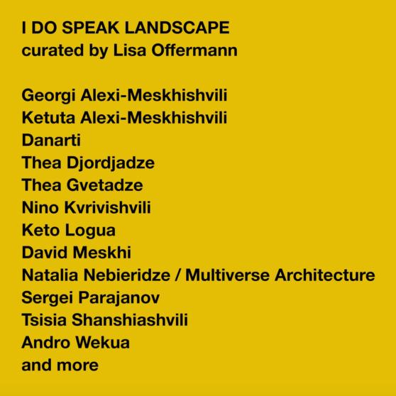 Poster I Do Speak Landscape