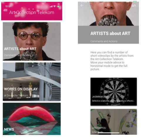 Art Collection Telekom – APP