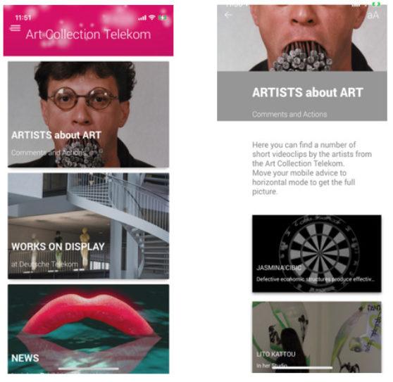 Art Collection Telekom – APP