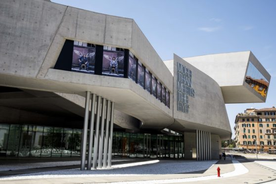 MAXXI, Bigger than Myself, Installation Angels with Dirty Faces, Igor Grubic, 2021, courtesy MAXXI