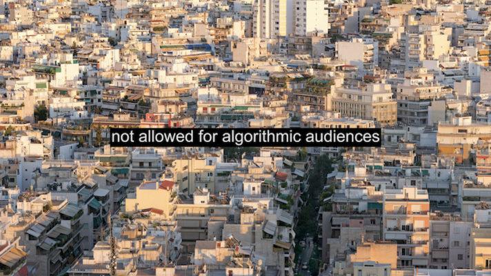 Not Allowed for Algorithmic Audiences, videostill, Kyriaki Goni, 2021