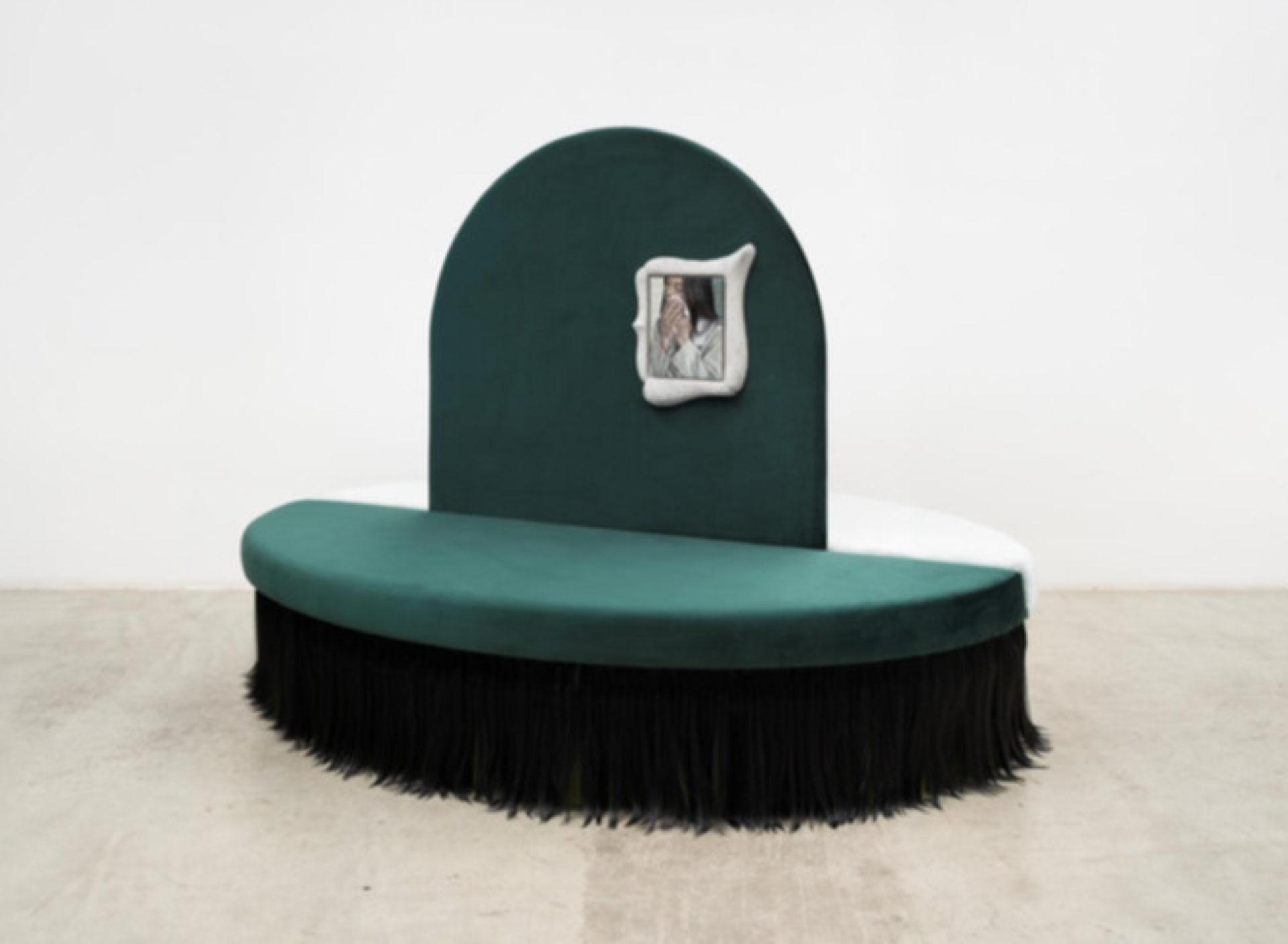 Klára Hosnedlová, Untitled, Sofa from the Series 'Ladies` Tears', 2019
