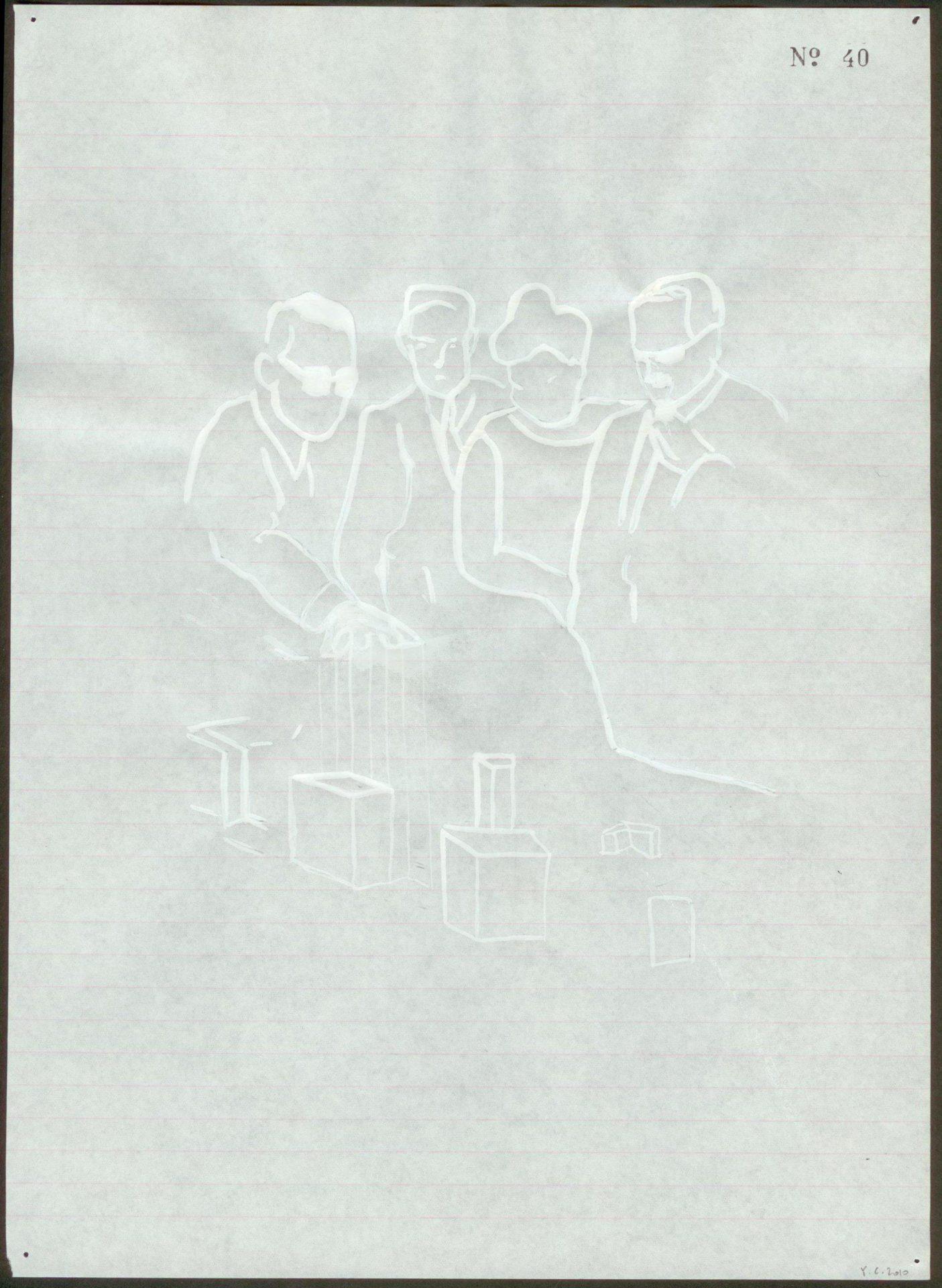 Yane Calovski, Obsessive Setting (Drawings), 2010, (6/12)