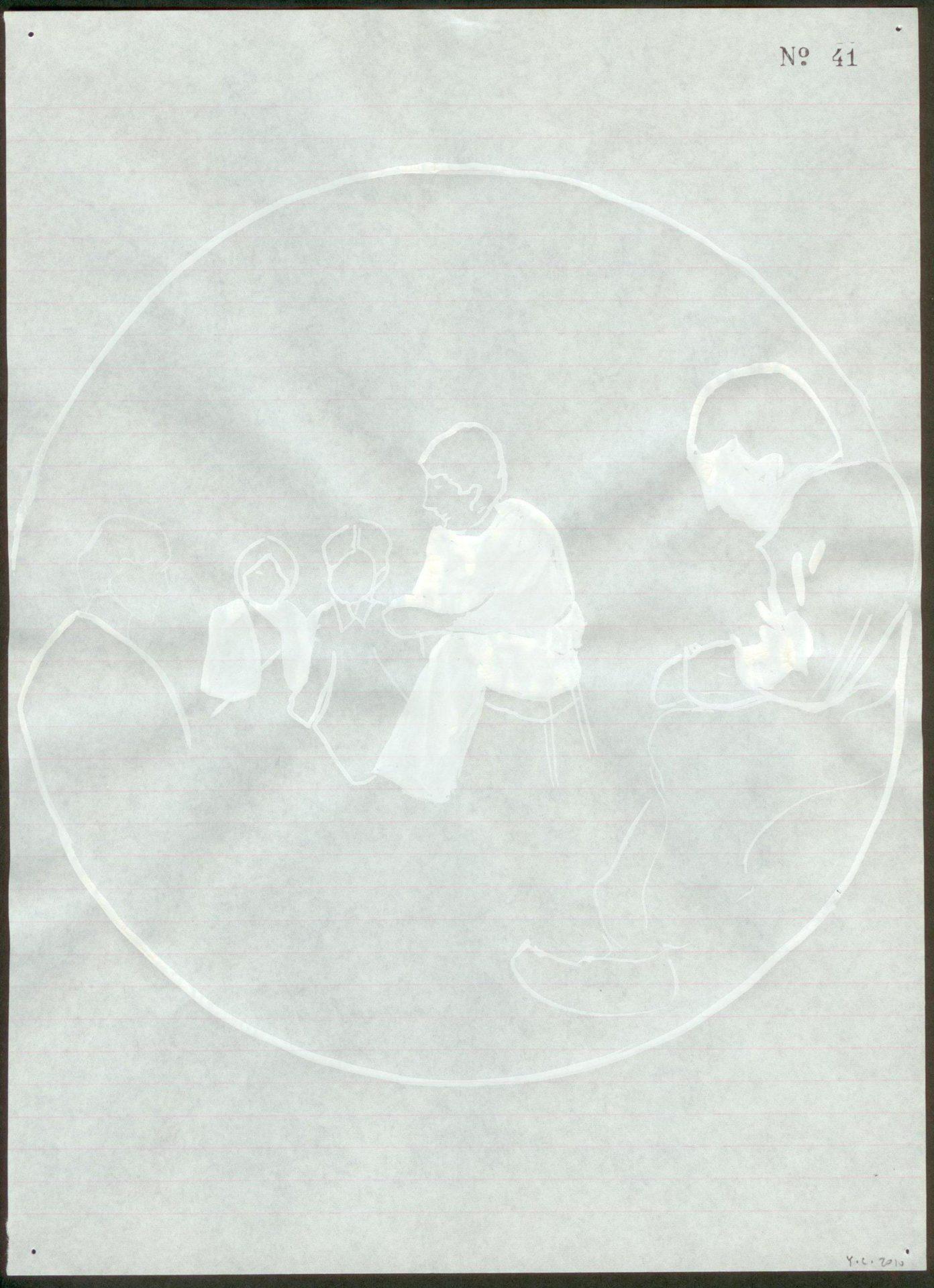 Yane Calovski, Obsessive Setting (Drawings), 2010, (7/12)