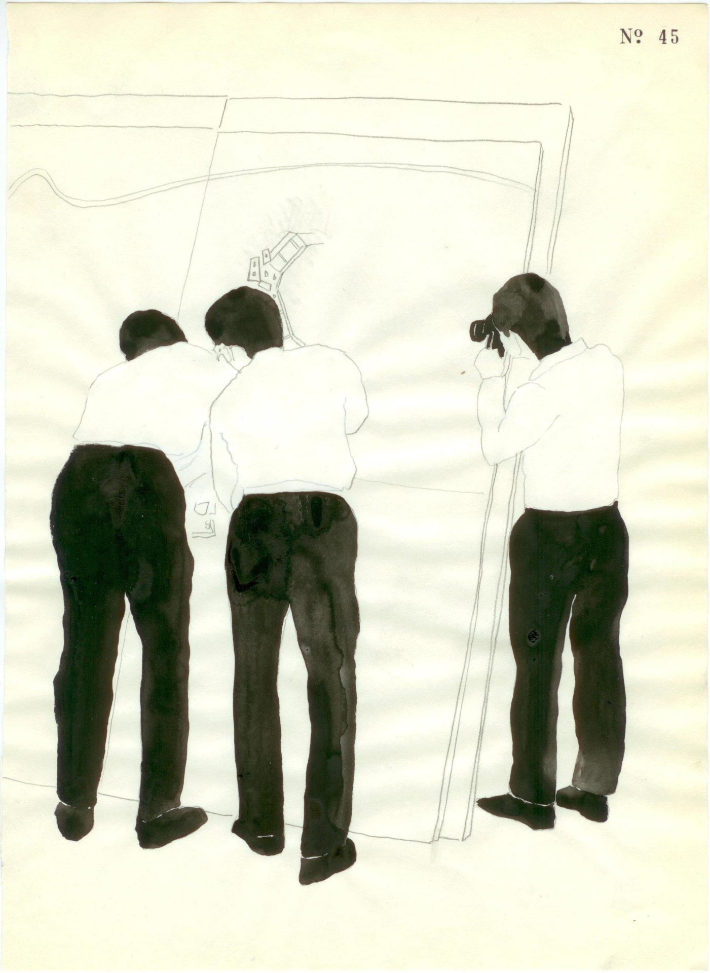 Yane Calovski, Obsessive Setting (Drawings), 2010, (8/12)
