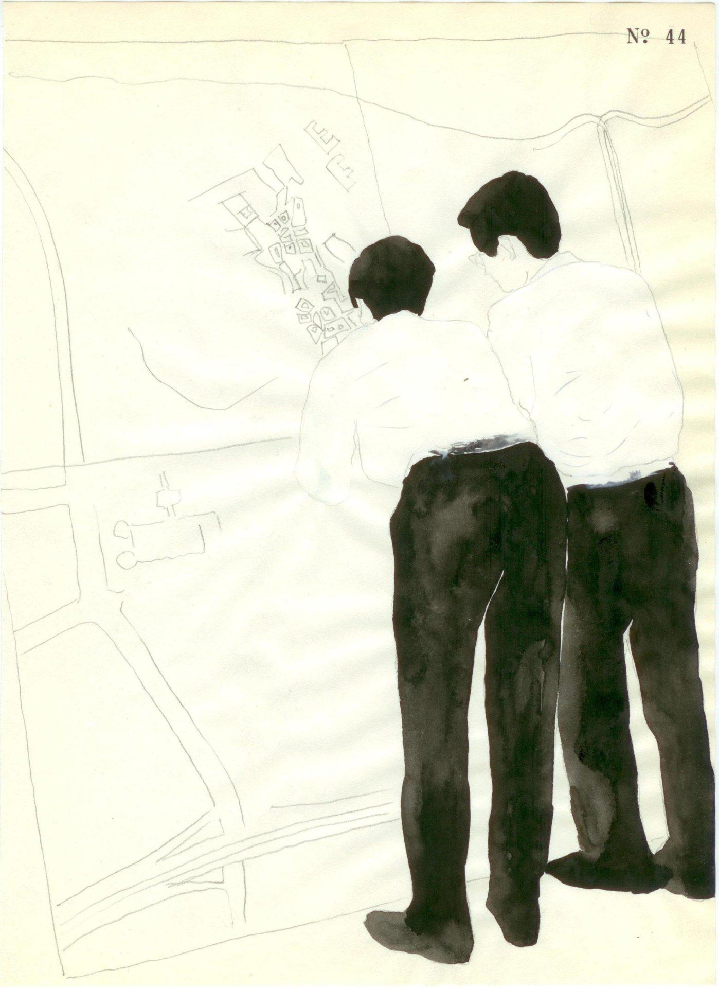 Yane Calovski, Obsessive Setting (Drawings), 2010, (9/12)
