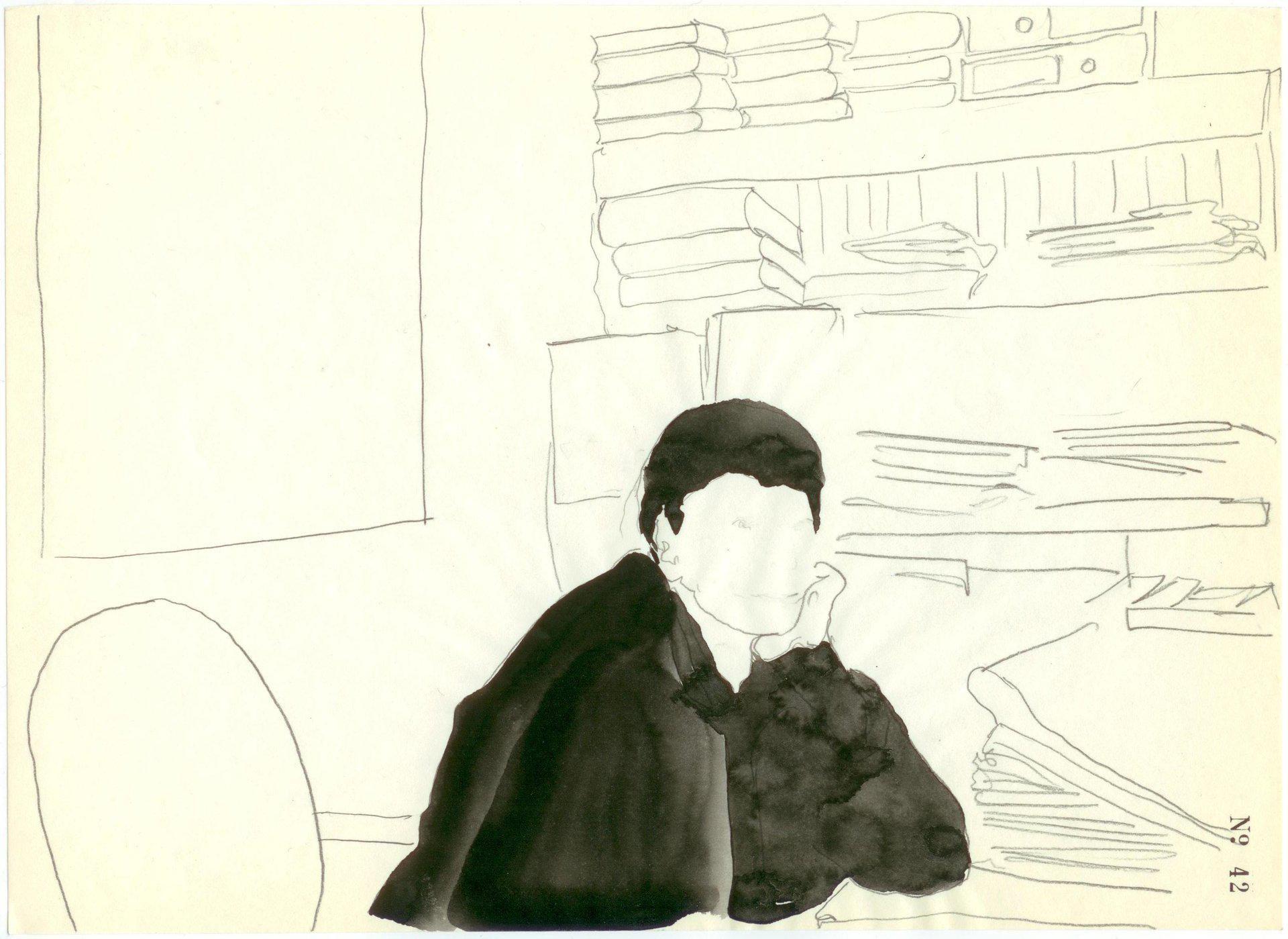 Yane Calovski, Obsessive Setting (Drawings), 2010, (11/12)