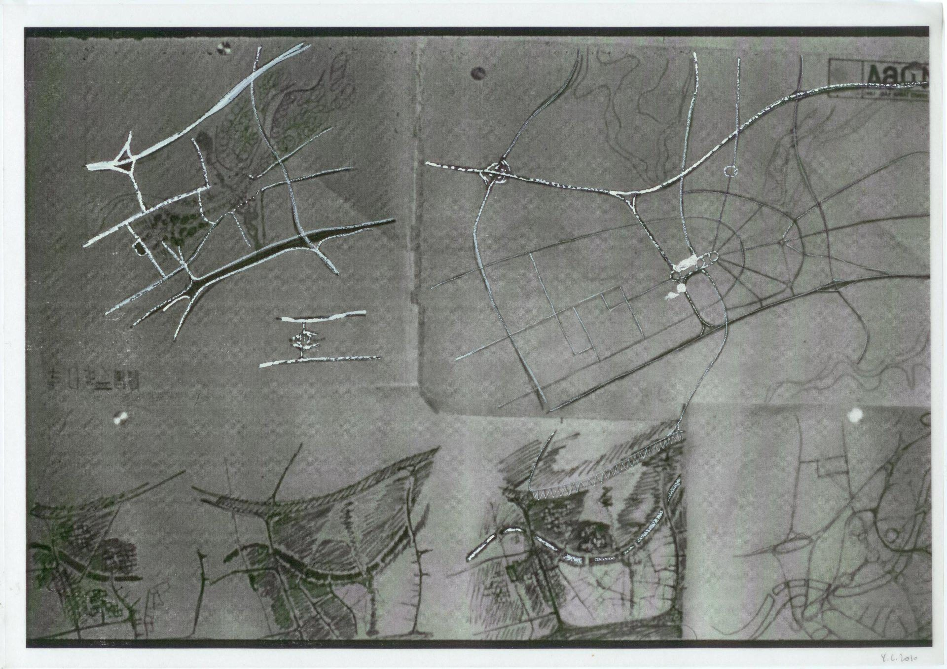 Yane Calovski, Obsessive Setting (Drawings), 2010, (3/12)