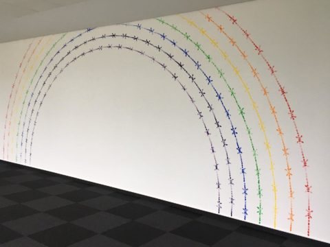 Mircea Cantor, Rainbow, 2010–2017, Installation view, Headquarter Deutsche Telekom