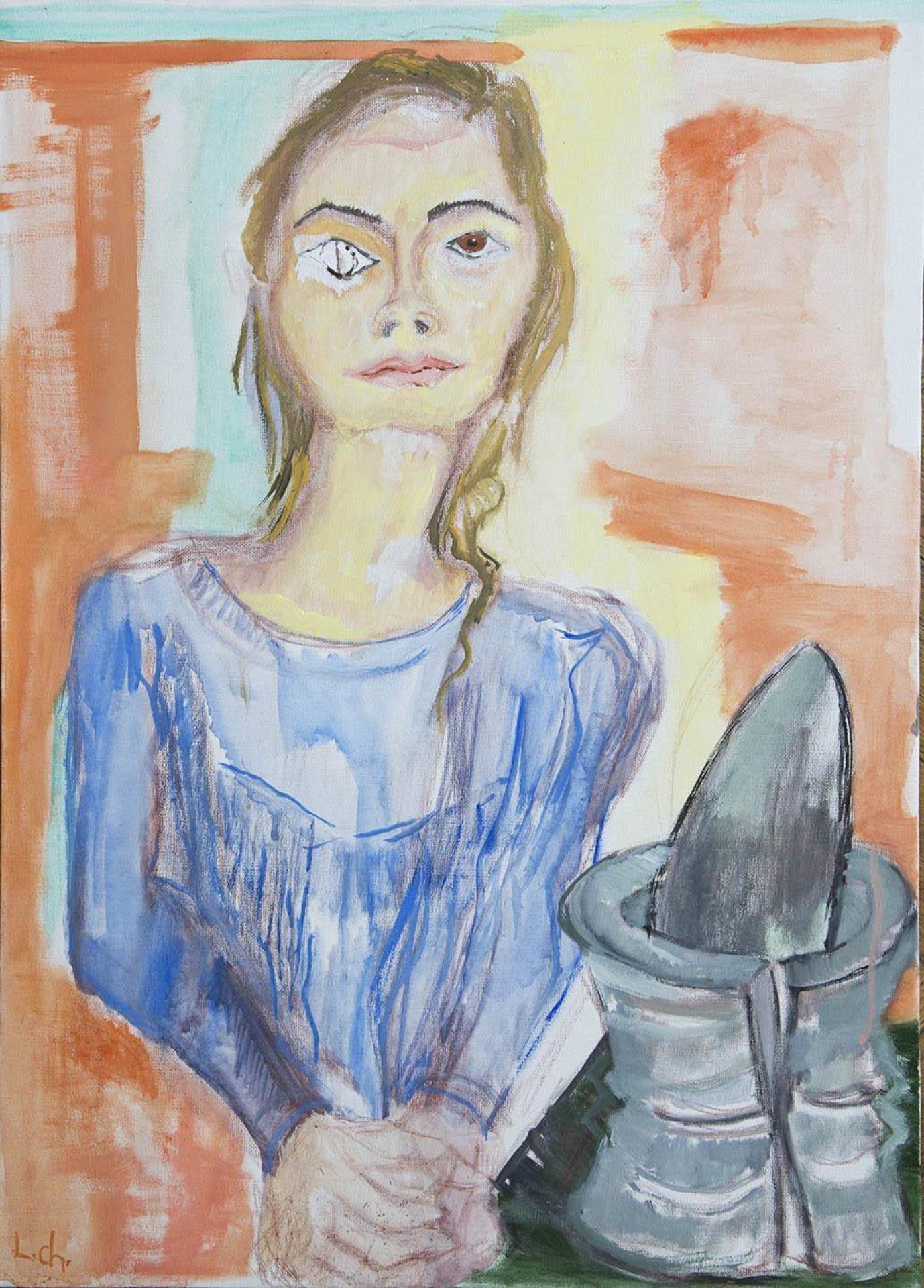 Levan Chelidze, Girl with Broken Pestle, 2016