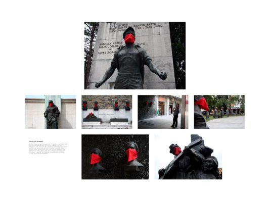 Igor Grubić, 366 Liberation Rituals, 2009, (Scarves and Monuments)
