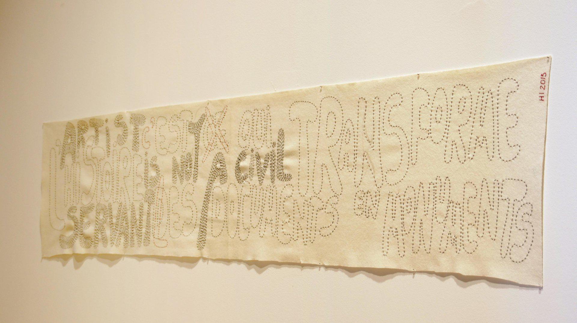 Hristina Ivanoska, Untitled (Artist is Not a Civil Servant), 2013