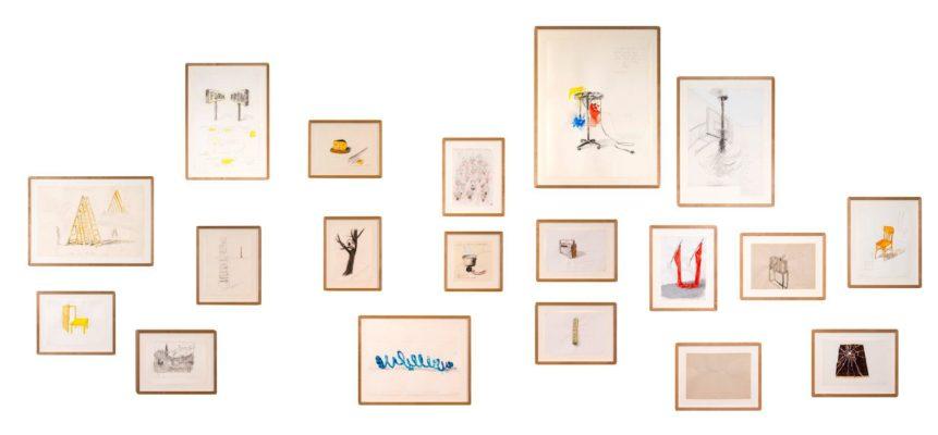 Pravdoliub Ivanov, Preparatory Drawings, 1998–2016, Installation view 'I am the Mouth', MSU, Zagreb