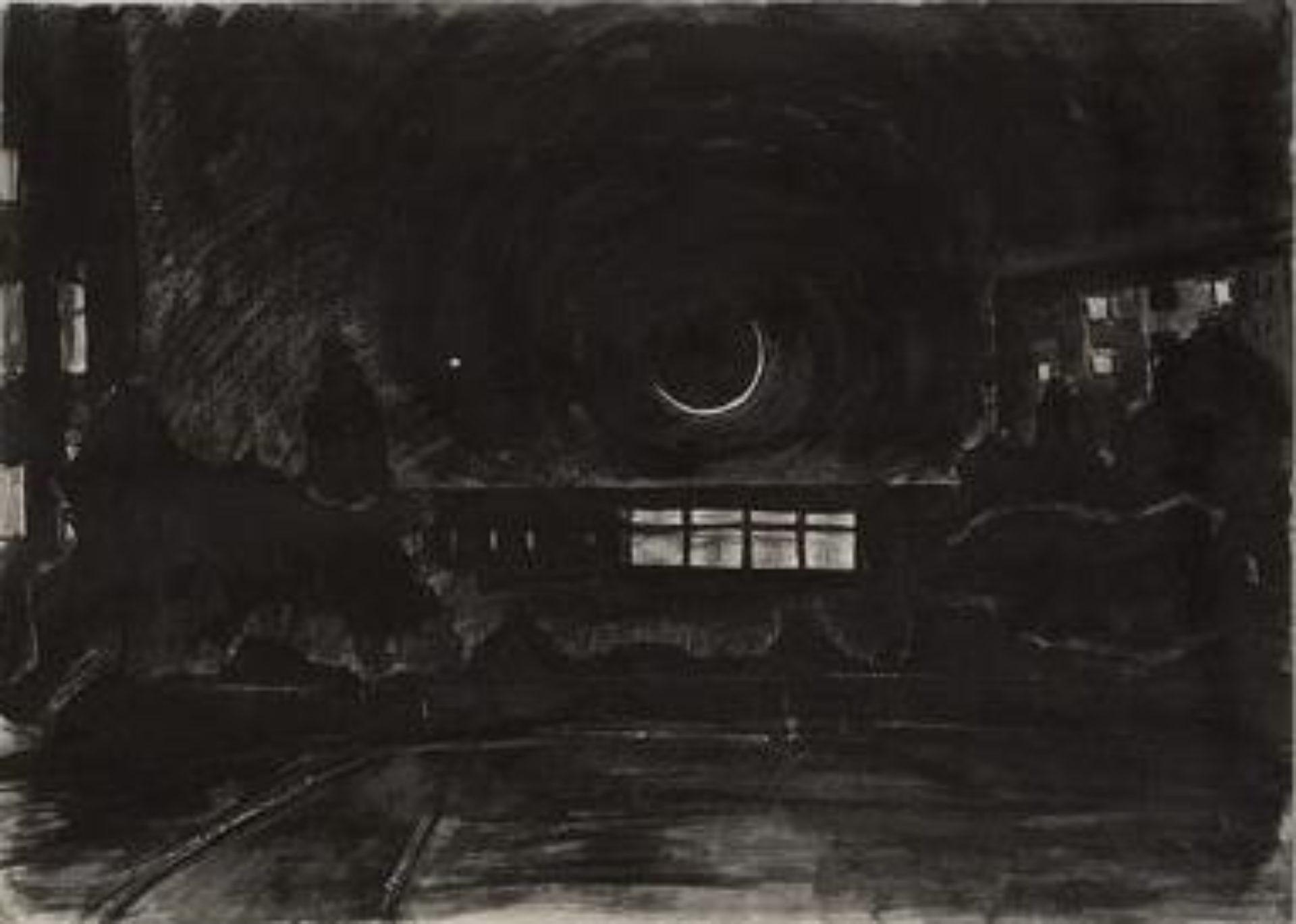 Volodymyr Kuznetsov, Night Landscape, Lviv, between Kulchytska and Liubinska Str., 2001