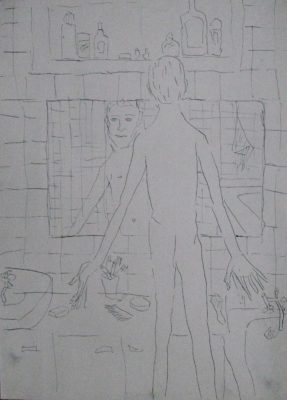 Volodymyr Kuznetsov, Self Portrait in the Bathroom, 1999