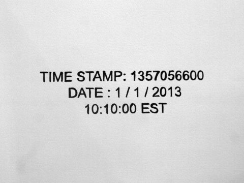 Radenko Milak, 365 (The Image of Time), 01. January 2013, 2013