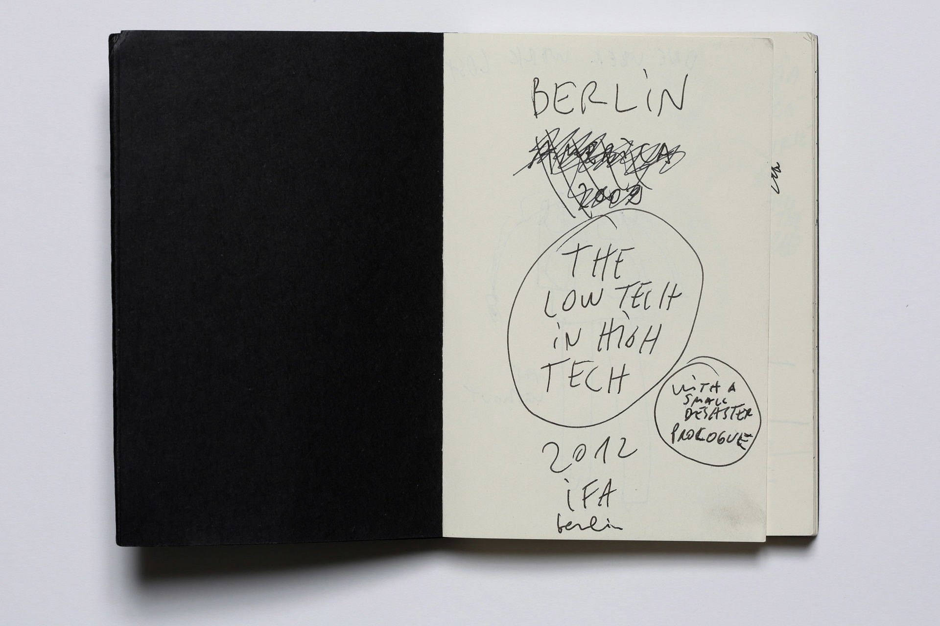 Dan Perjovschi, The Low Tech in High Tech, The IFA Berlin Notebook, 2012
