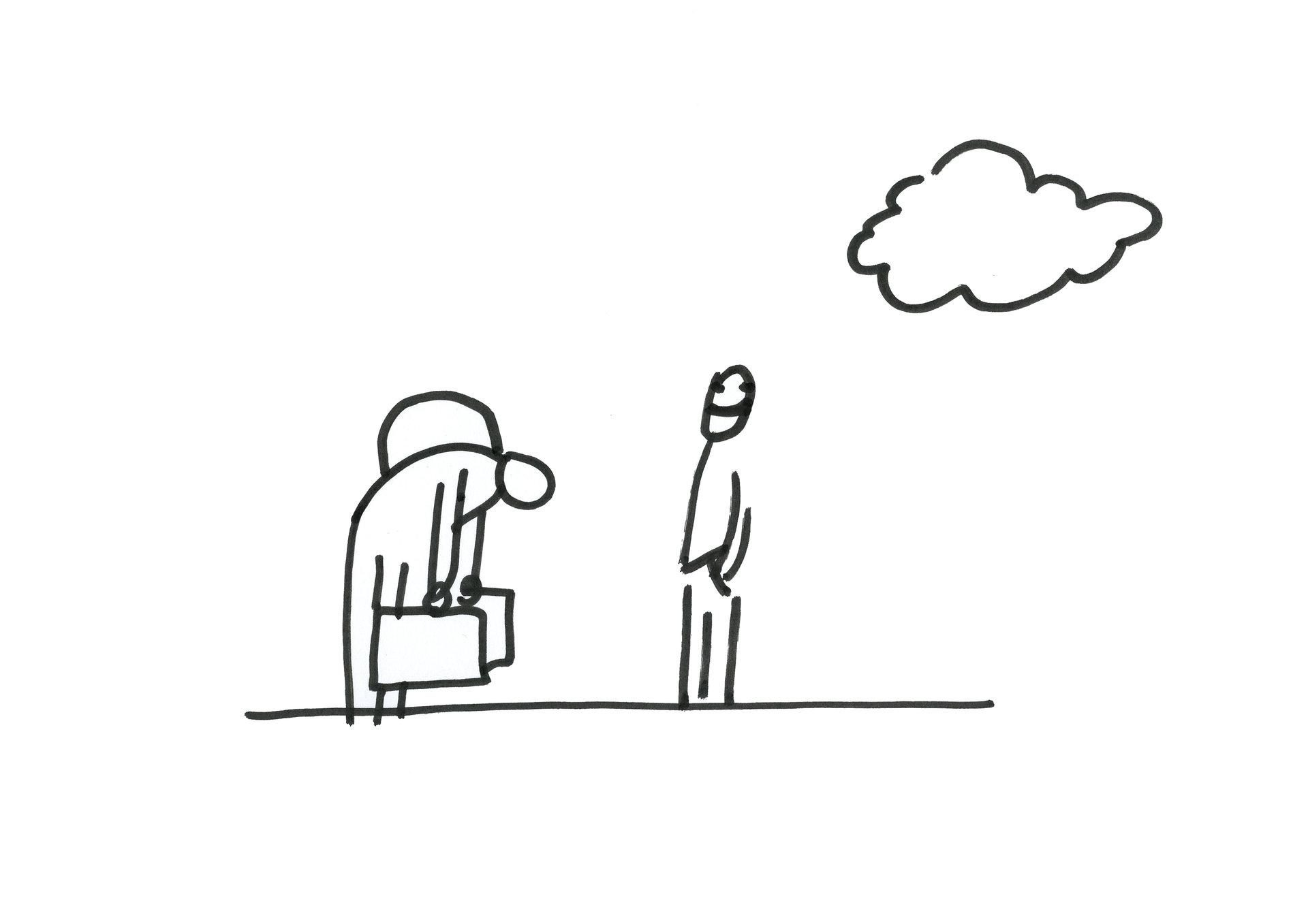 Dan Perjovschi, Come Cloud With Me (10/20), 2012