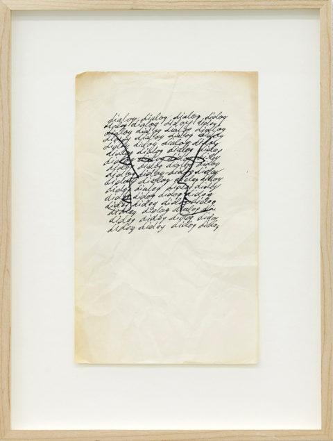 Dan Perjovschi, Dialogue, from the Fish Eye Series, 1986–1987